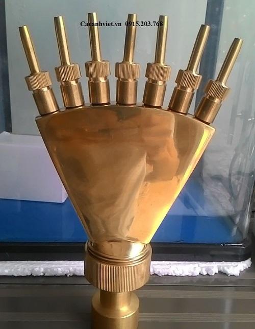 Đài phun nước rẻ quạt hình bàn tay 7 ngón